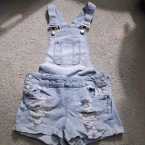 Junior size 3 bib overall shorts
